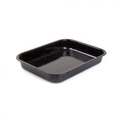 Zománcozott fekete tepsi 34 cm