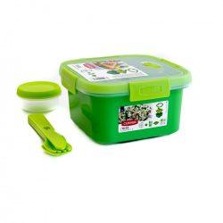 Curver Smart To Go szögletes ételtartó 1 l zöld