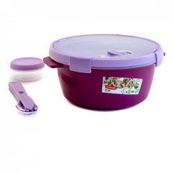 Curver Smart To Go kerek ételtartó 1,6 l lila
