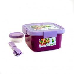 Curver Smart To Go szögletes ételtartó 1 l lila