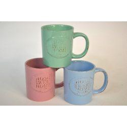 Bögre porcelán 340 ml, pasztell színek Home Sweet Nr.253080