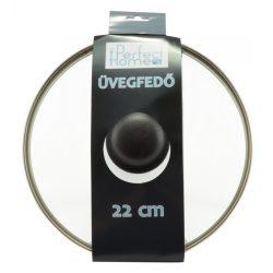 Üvegfedő acélperemes 22 cm 28309
