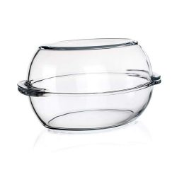 Hőálló üveg sütőtál+tető 6 l ovális VP2151
