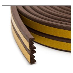 Öntapadós nyílászáró szigetelő E profil barna 6 m