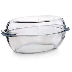 Hőálló üveg sütőtál+tető 3,7 l VP1076
