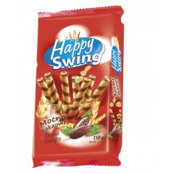 Happy Swing kakaó ízű ostyarúd 150 g