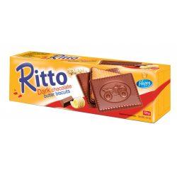Ritto keksz étcsokoládéba félig mártva 125 g