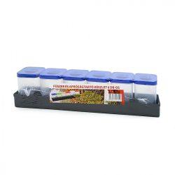 Fűszertartó 6 darabos műanyag