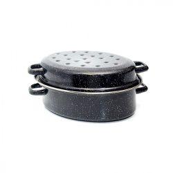 Zománcozott pulykasütő 38 cm