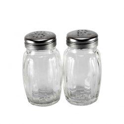 Sószóró üveg inox tetővel e-002