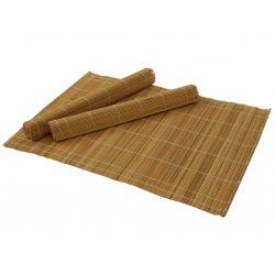 Tányér alátét bambusz 4db-os, fa tartóban