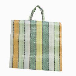 Csíkos táska szalagfüllel (szőttes)