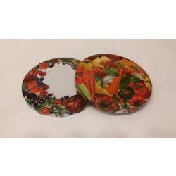 Befőttesüveg tető 82-es fém, zöldség-gyümölcs, kockás