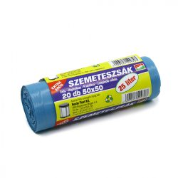 Szemeteszsák 50x50 cm kék (25 l) 20 db/csomag