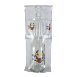 Dekor üveg szett Lungo kalocsai minta 0,5 l Nr.519