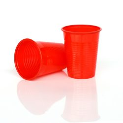 Eldobható pohár 2dl piros 50 db