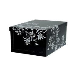 Tárolódoboz virágok maxi barokk fekete