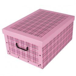 Tárolódoboz maxi skót pink