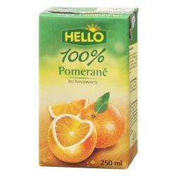 Hello narancs 100% 250 ml