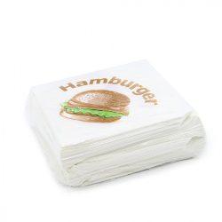 Hamburger tasak papír 16x16cm 500db/cs