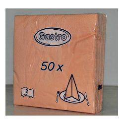 Szalvéta 2 rétegű 33x33 cm barack 50 db/csomag