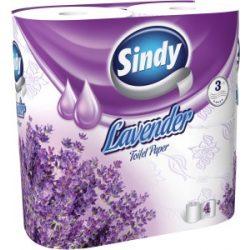 WC papír Sindy Levendula 4 tekercs 3 rétegű