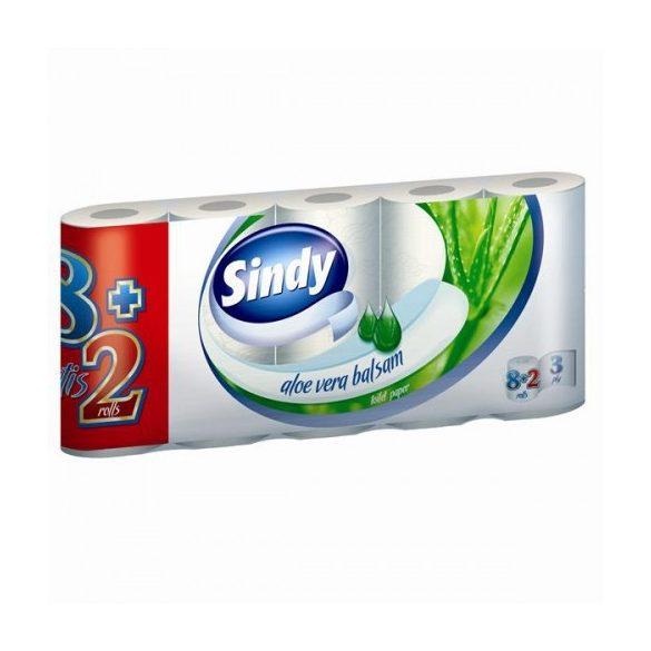 Sindy Aloe háromrétegű WC-papír 8+2 tekercs/csomag