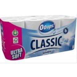 WC papír Ooops! Classic Sensitive 16 tekercs 3 rétegű