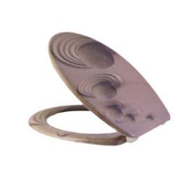 Frappa WC - ülőke duroplast mintás - kövek